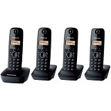 PANASONIC Cordless Phone [KX-TG1614] - Black - Wireless Phone